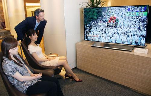 LG OLED TV at airport