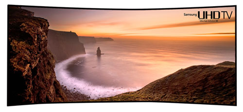 Samsung 105in curved 4K TV