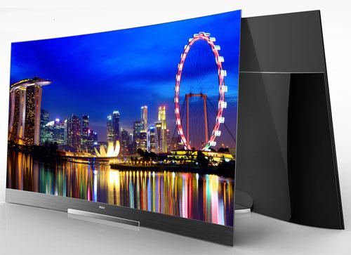 haier unveil curved oled tvs glasses free 3d 4k tv at ces 2014. Black Bedroom Furniture Sets. Home Design Ideas