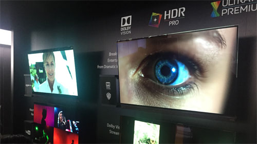 lg 4k hdr oled tv rules ces 2016 as rivals go led lcd. Black Bedroom Furniture Sets. Home Design Ideas