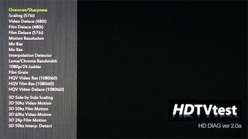 HDTVTest Diagnostic Disc