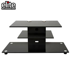 Elite black TV Stand