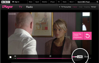 BBC iPlayer catch-up TV