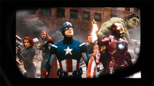 The Avengers as seen through the right lens of a 3D eyewear
