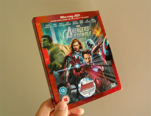 The Avengers 3D lenticular sleeve cover