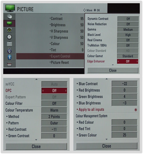 LG 42SL9000's Graphical User Interface