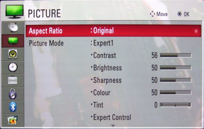 Best picture options for soccer lg tv
