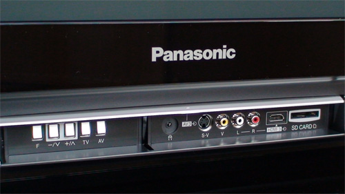 Front inputs on Panasonic TH42PZ80