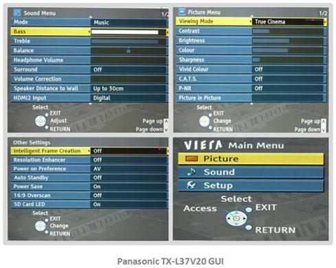Panasonic TX-L37V20B/TXL37V20B/TX-L37V20 LED TV Review