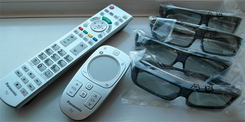 Remote controls and 3D glasses