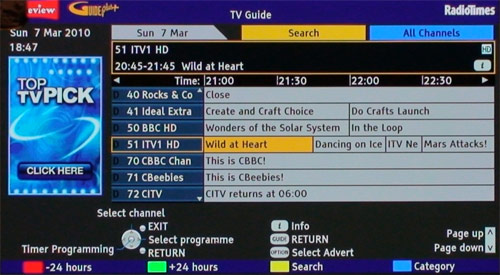 ITV HD on Freeview HD