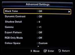[Advanced Settings] menu