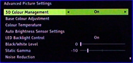 Advanced picture settings page 1