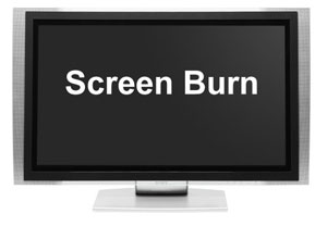 Plasma Screen Burn Prevention