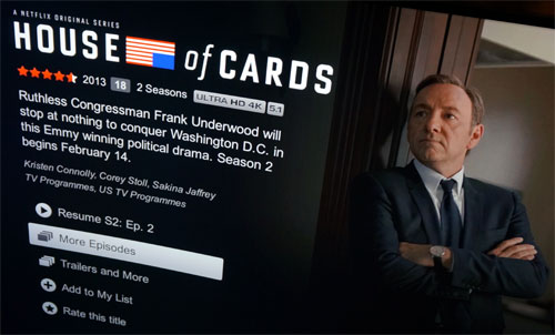 House of Cards S2 in 4K