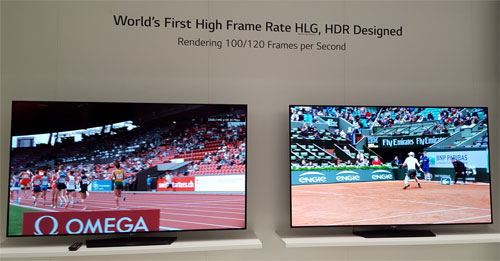 LG Wows IFA with OLED Tunnel & HFR HLG HDR TV Demo