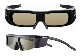 Active-shutter 3D glasses