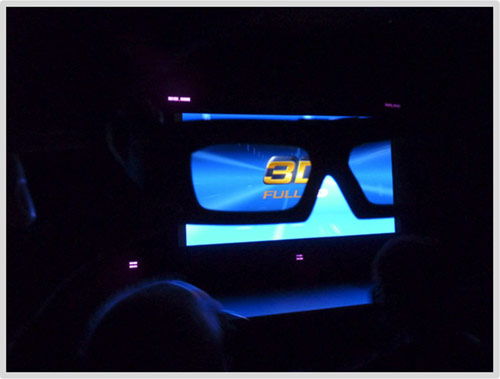 3D picture as seen from 3D glasses