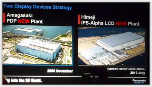 Panasonic plasma and LCD manufacturing plants