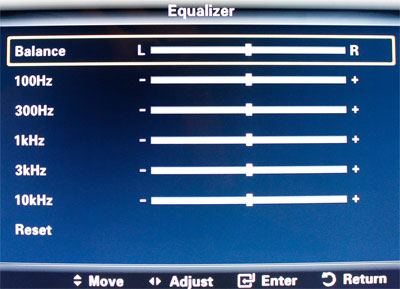 Sound Equalizer on Samsung HDTV