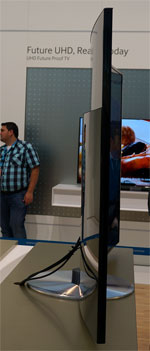 Side view of Samsung curved 4K LED TV