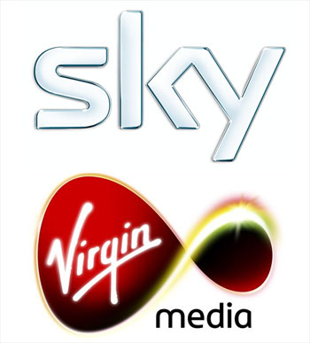 Sky and Virgin Media logos