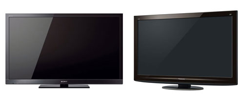 LCD and plasma 3D TVs