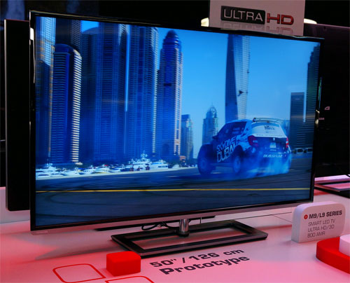Toshiba's 50in 4K TV prototype