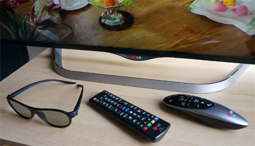 Remote controls and polarized 3D glasses